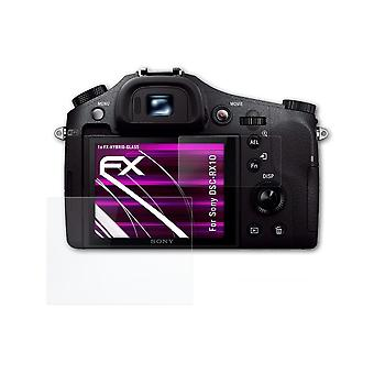 atFoliX Glass Protector compatible with Sony DSC-RX10 Glass Protective Film 9H Hybrid-Glass