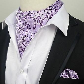 الأرجواني الخفيفة & أرجواني التعادل ربطه عنق & جيب مربع