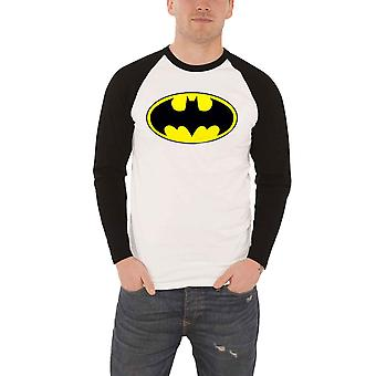 Official Batman T Shirt Classic Signal Logo New DC Comics White Baseball Unisex