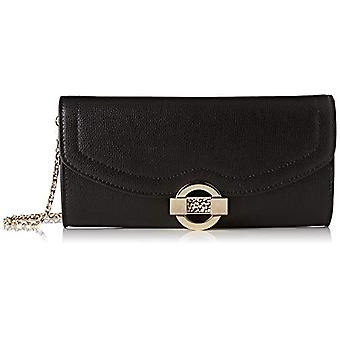 Borbonese Small Strap Bag Woman (Black/Op Nat) 23.5x11x5 cm (W x H x L)