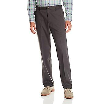 Dockers Men's Comfort Khaki Stretch Relaxed-Fit Flat-Front, Grey, Size 36W x 30L