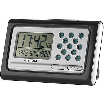 ATRIUM Wekker Digitaal sprekende radiowekker zwart A310-7