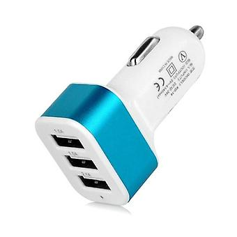 Stuff Certified® High Speed 3-Port Charger / Carcharger 5V - 4.1A - Blue