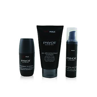 Optimale Energising Ritual For Men Set : 1x Facial Cleanser 150ml + 1x Wrinkle Smoothing Fluid 50ml + 1x 24 Hrs Roll-on