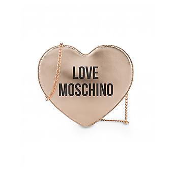 Rakkaus Moschino tarvikkeet metallinen sydänketju crossbody laukku
