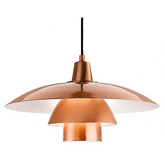 Firstlight Pacific Retro Brushed Copper And White 3 Tier Pendant