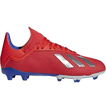adidas Performance Kids Juniors X 18.3 Firm Ground Football Soccer Boots - Red