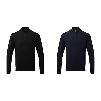 Asquith & Fox Mens Cotton Blend Zip Sweatshirt