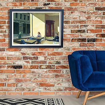 Edward Hopper - Solanas en cafetería cartel impresión Giclee