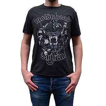 Zosilnený Motorhead snaggletooth Crest drevené uhlie posádky krku T-shirt
