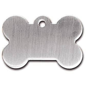 Kruuse Bone plate Brushed Chrome (Dogs , Collars, Leads and Harnesses , Accessories)