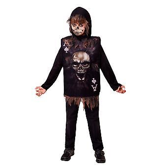 Halloween kind skelet kaart vermomming