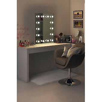 Diamond X Tischplatte Hollywood Audio Mirror + dimmbare LED k412sWWaud