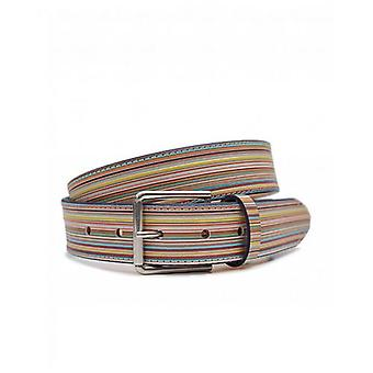 Paul Smith Accessories Multi Striped Leather Belt