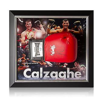 Joe Calzaghe Signed Boxing Glove Framed