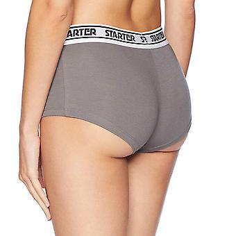 Starter Women's 1-Pack Cotton-Blend Boyshort Panty,  Exclusive, Iron Gr...