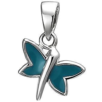 Farfalla a ciondolo 925 sterlina argento turchese laccato