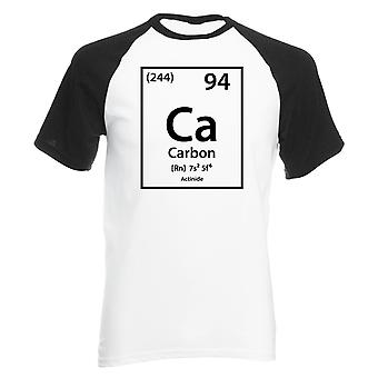 Reality glitch carbon element periodic table mens baseball shirt