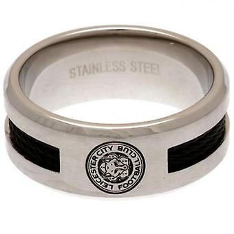Leicester City Black Inlay Ring Small
