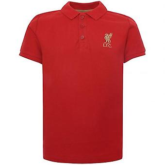 Liverpool Red Polo Shirt Junior Red 7/8