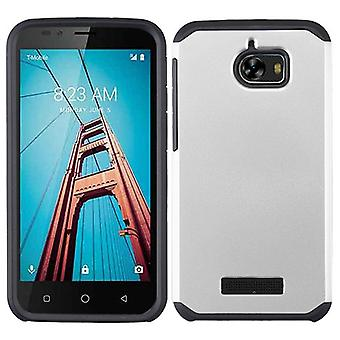 ASMYNA Astronoot Protector Case for Coolpad Defiant - Silver/Black