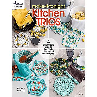 Make-It-Tonight Kitchen Trios - 4 Stylish Sets Include Hot Pads - Dish