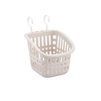 Square plastic double hook type storage basket, Plastic hanging storage basket