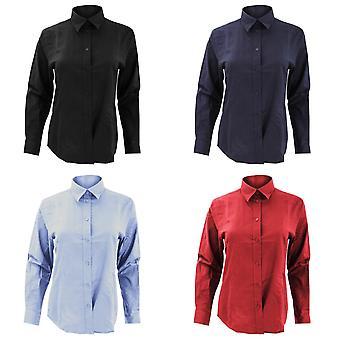 Kustom Kit Ladies Workwear Oxford Long Sleeve Shirt