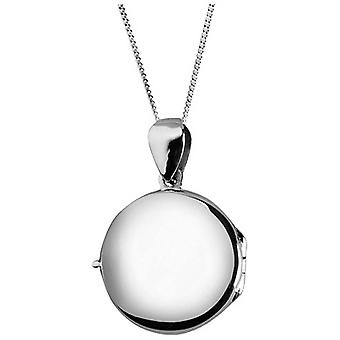 Orton West Plain Round Locket - Silver