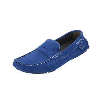 Kaporal N/A Men's Loafer Blue Slip-Ons Business Shoes