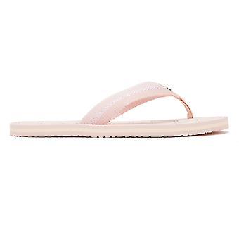 Tommy Hilfiger Flag Beach Womens Pink Flip Flops