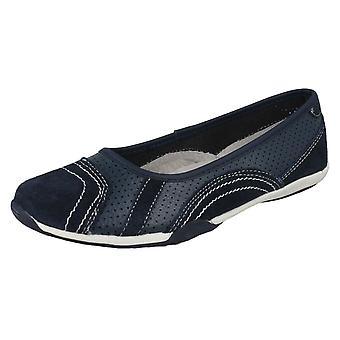 Planas de las señoras a la tierra F8991 de zapatos de bailarina