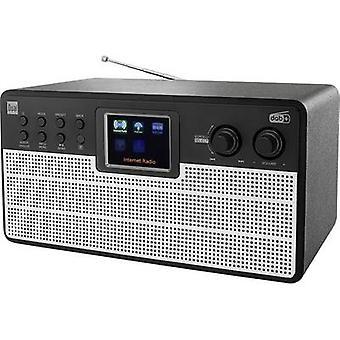 Dual Radiostation IR 100 Internet desk radio DAB+, FM Bluetooth, Wi-Fi, Internet radio Black, Silver