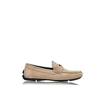 Emporio Armani X4b124 Xf188 Suede Beige Loafers