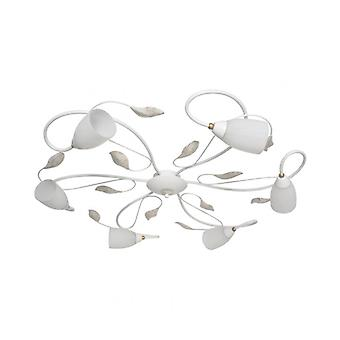 Flora White Ceiling Lamp 6 Bulbs 15 Cm