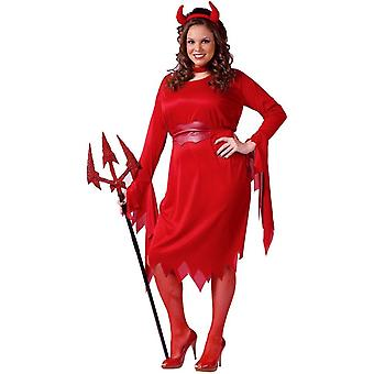 Diable rouge taille Plus adulte Costume