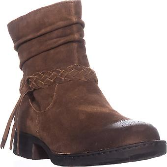 B.O.C Womens Abernath Leather Round Toe Ankle Cowboy Boots