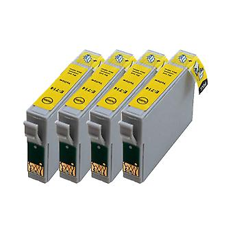 RudyTwos 4x Replacement for Epson Cheetah Ink Unit Yellow Compatible with Stylus D78, D92, D120, DX400, DX4000, DX4050, DX4400, DX4450, DX5000, DX5050, DX6000, DX6050, DX7000, DX7400, DX7450, DX8400,
