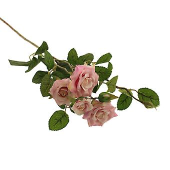 70cm Light Pink Garden Rose Spray - Artificial Flower Spray