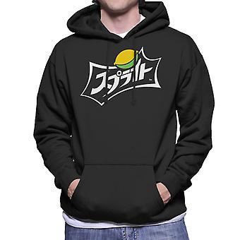 Sprite Japanese Text Lemon Logo Men es Hooded Sweatshirt
