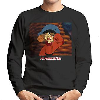 Un americano tail fievel Angry Men's Sweat shirt