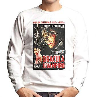 Hammer skräckfilmer Dracula italienska Movie poster män ' s Sweatshirt