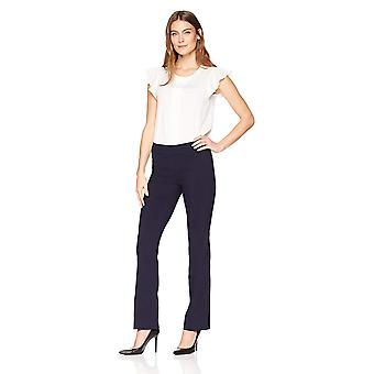 Lark & Ro Women's Barely Bootcut Stretch Pant: Comfort Fit, Navy, 8
