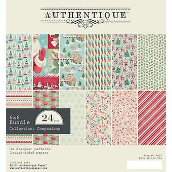 Authentique Jingle 6x6 pulgadas De papel Pad
