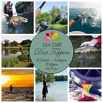 Dixi Craft Dixi Toppers Fishing 9x9cm