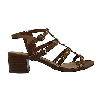 Rampage Women's Milty Heeled Studded Dress Sandals with Studs Tanal 11 Tan