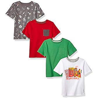 Brand - Spotted Zebra Boys' Big Kid 4-Pack Short-Sleeve T-Shirts, Lunc...