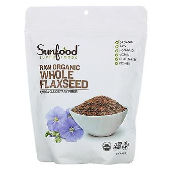 Sunfood, Superfoods, Raw Organic Whole Flaxseed, 1 lb (453.5 g)