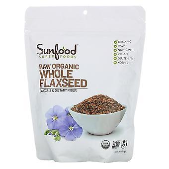 Sunfood, Superfoods, Raw Organic Whole Flaxseed, 1 lb (453.5 g)