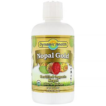 Dynamic Health  Laboratories, Certified Organic Nopal Gold, 100% Juice, 32 fl oz